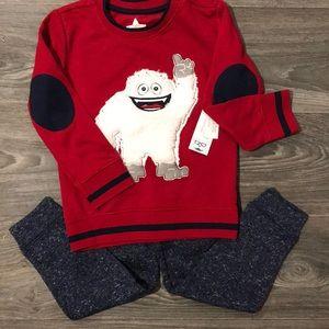 Abominable Snowman sweatsuit set